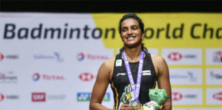 Congratulations to PV Sindhu for winning the 2019 World Championships title. (photo: Fabrice Coffrini/Afp/Getty Images)