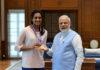 PV Sindhu meets India's Prime Minister Narendra Modi. (photo: Narendra Modi's Twitter)