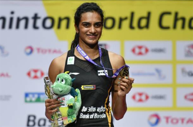 PV Sindhu wins the 2019 BWF World Championships. (photo: AFP)