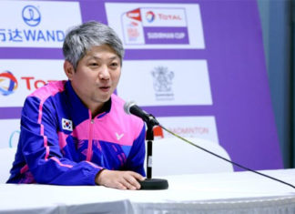 Kang Kyung-Jin is reported to be signing with China as the country's first ever badminton foreign coach. (photo: AFP)