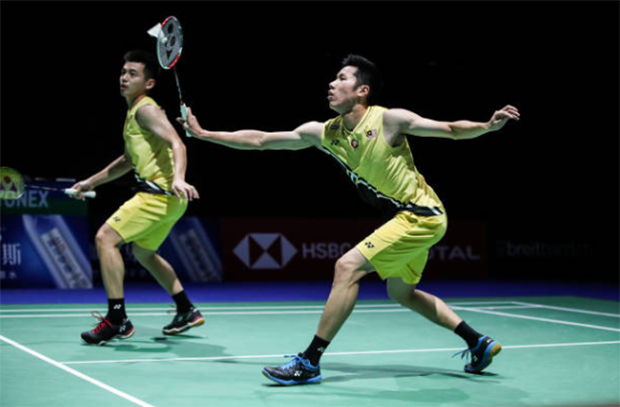 Goh V Shem/Tan Wee Kiong are one win away from claiming the Chinese Taipei Open title. (photo: Shi Tang/Getty Images)