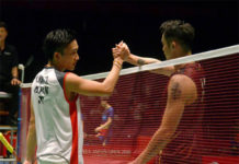 Lin Dan to battle Kento Momota (L) in the China Open first round. (photo: Asahi Shimbun via Getty Images)