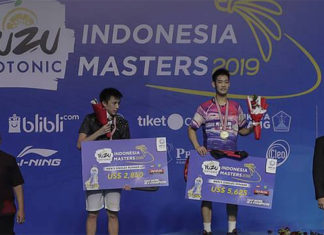 Sun Fei Xiang takes 2019 Indonesia Masters title. (photo: BWF)