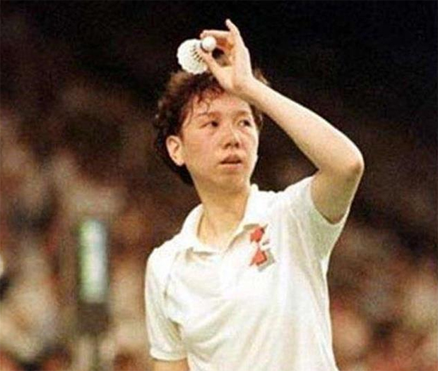 Han Aiping - the legendary women's singles player from China.