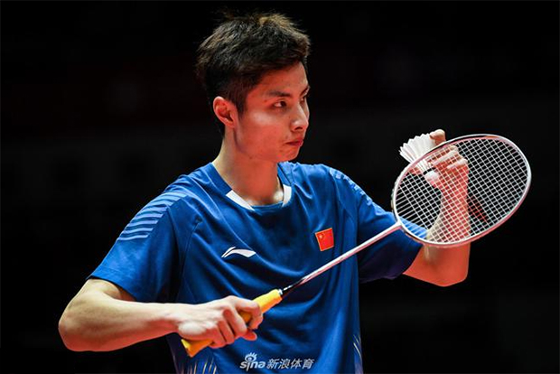 Shi Yuqi advances to the Macau Open quarter-final. (photo: AFP)