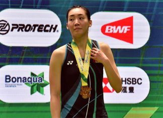 Happy birthday and congratulations to Michelle Li for winning the 2019 Macau Open title. (photo: AFP)