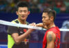 Lin Dan faces Chen Long in Fuzhou China Open first round. (photo: AFP)