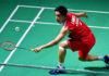 Kento Momota earns easy route to the Fuzhou China Open quarter-finals. (photo: Xinhua)