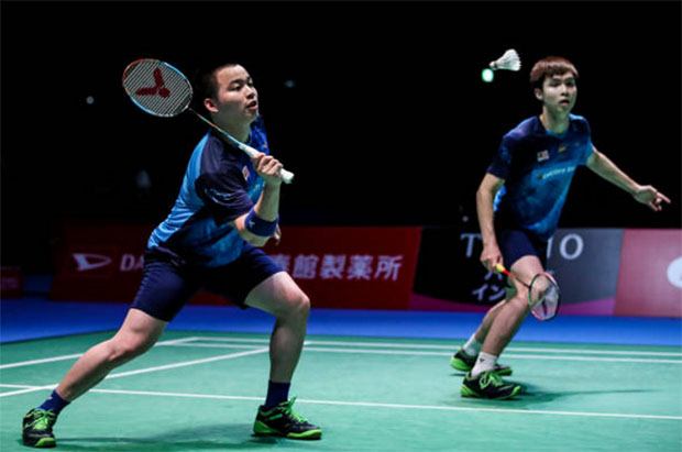 Aaron Chia (L) and Soh Wooi Yik are looking to win the 2019 SEA Games men's doubles gold medal. (photo: Robertus Pudyanto/Getty Images)