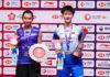 Chen Yu Fei (R) seals year-end number one BWF ranking. (photo: Xinhua)
