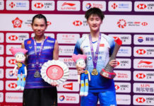 Chen Yu Fei (R) seals year-end number one BWF ranking. (photo: Xinhua)
