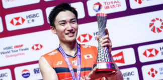 Kento Momota is the highest earning badminton player in 2019. (photo: Shi Tang, GettyImages)