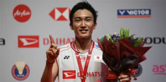 Kento Momota wins the 2020 Malaysia Masters. (photo: Mohd Rasfan/AFP Via Getty Images)