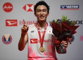 Kento Momota wins the 2020 Malaysia Masters. (photo: Mohd Rasfan/AFP Via Getty Images)