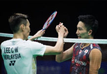 Lee Chong Wei wishes Kento Momota a speedy recovery. (photo: AFP)