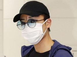A facial scar is very obvious between Kento Momota's eyebrows. (photo: AFP)