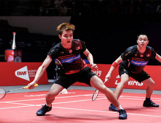 Aaron Chia/Soh Wooi Yik advance to the semi-finals of Indonesia Masters. (photo: Shi Tang/Getty Images)