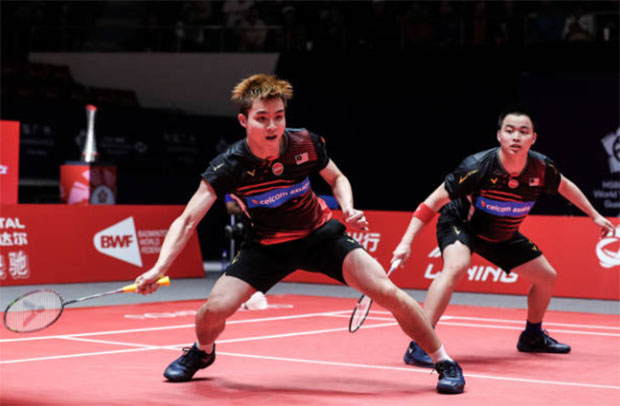 Aaron Chia/Soh Wooi Yik are leading Malaysia's challenge at 2020 Badminton Asia Team Championships. (photo: Shi Tang/Getty Images)
