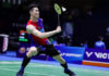 Lee Zii Jia faces tough challenge in the tie against India at 2020 Badminton Asia Team Championships. (photo: Bernama)