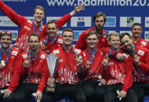 Denmark wins the 2020 European Men's Team Championships title. (photo: Badminton Europe)