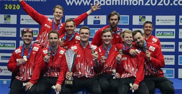 Denmark wins the 2020 European Men's Team Championships title. (photo: Badminton Europe)