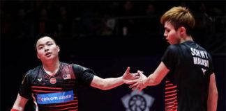 Aaron Chia/Soh Wooi Yik advance to Spain Masters quarter-finals. (photo: Shi Tang/Getty Images)