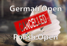 German Open and Polish Open cancelled due to coronavirus concerns.