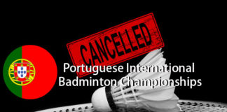Portuguese International Badminton Championships and other badminton tournament could be cancel due to the coronavirus outbreak.