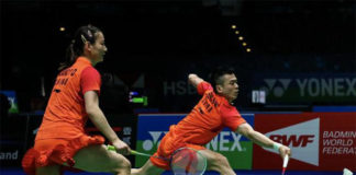 Zheng Si Wei/Huang Ya Qiong crash out in All England second round. (photo: AFP)