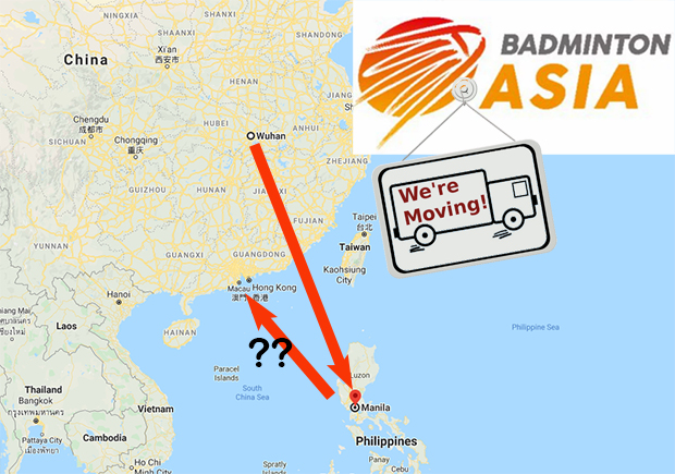 2020 Badminton Asia Championships moved again from Manila to somewhere else.