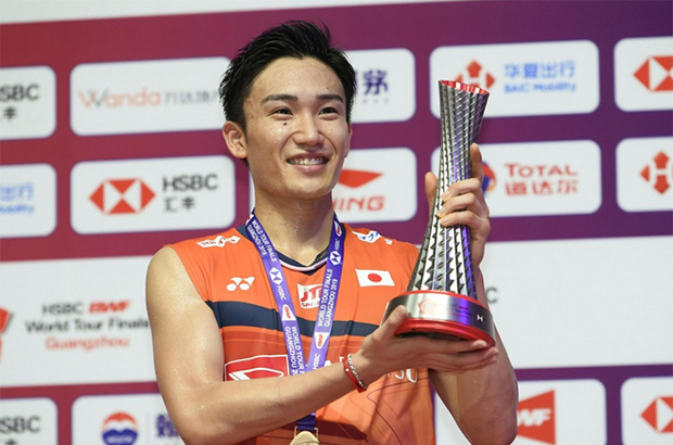 Kento Momota is optimistic about a full recovery. (photo: Kyodo News)