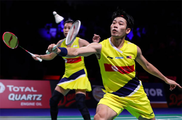 Chan Peng Soon (R) is looking forward to returning to badminton and training after a nearly three-month lockdown and isolation due to COVID-19. (photo: Shi Tang/Getty Images)