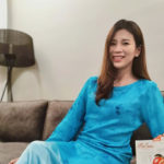 Goh Liu Ying delivers Hari Raya greetings to all Muslim in Malaysia and all around the world. (photo: Goh Liu Ying's Instagram)