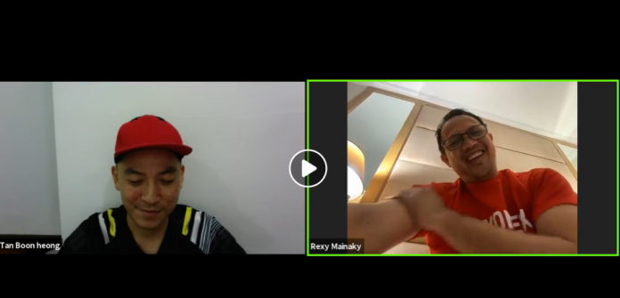 Tan Boon Heong shares fun stories with Rexy Mainaky in live chat. (photo: Tan Boon Heong's Facebook)