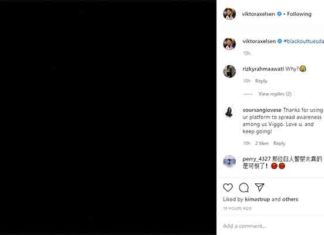 Blackout Tuesday: Protest against George Floyd's death spreads to the world of badminton. (photo: Viktor Axelsen's Instagram)