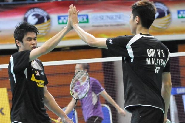 Goh V Shem and Lim Khim Wah defeated Indonesia's Gideon Markus Fernaldi-Markis Kido