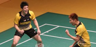 Malaysian men's pair Goh V Shem-Lim Khim Wah are through to the final of the Malaysian Open after beating their Indonesian opponents in three sets on Saturday.