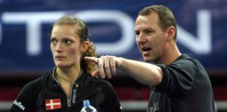 Ex-national coaching director Morten Frost of Denmark (right), seen here giving pointers to compatriot and ex-Danish No.1 women's singles player Tine Baum during the 2011 Malaysian Open, could be one of the candidates to helm the Badminton Association of Malaysia's new Capabilities, Skills and Research (CSR) committee.