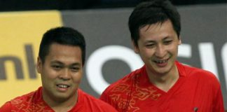 A file picture of Markis Kido (left). He now partners Gideon Markus Fernaldi in the men's doubles.