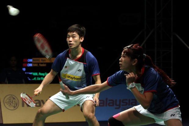 Mixed doubles pair Chan Peng Soon (left) and Goh Liu Ying will not be competing at the Korean Open, which begins in Seoul next Wednesday.