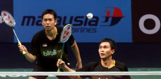 Mohd Ahsan-Hendra Setiawan on their way to winning the BWF World Superseries Finals in December. Last year, they also won the Malaysian Open, Indonesian Open, Singapore Open and Japan Open.