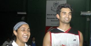 Tanvi Lad and Anup Sridhar who won the women's and men's titles.