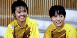 Goh Yea Ching (right) and partner Peck Yen Wei aim to make at least the semis of the Asian Junior Championships from Feb 16-23 in Taiwan.