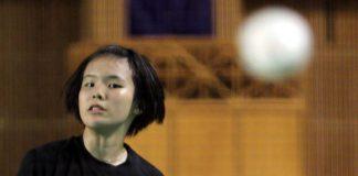 Goh Jin Wei beat Grace Chua Hui Zhen of Singapore 21-11, 21-19 in the Asian Junior Championships individual event on Feb 19, 2014.