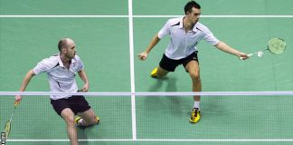 Adcock and Ellis were unable to follow that up as they suffered a 21-17 19-21 21-14 defeat by Carsten Mogensen and Mathias Boe.