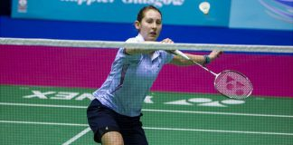 Kirsty Gilmour beat Natalia Perminova in the singles and paired with Imogen Bankier to win their doubles match.