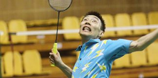 Lee Chong Wei in training on Friday. He will meet Tanongsak Saensomboonsuk of Thailand in the first round of the All-England.