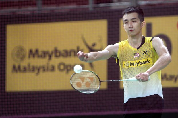 World No. 16 Chong Wei Feng in a file photo. He beat world No. 11 Marc Zwiebler of Germany 21-18, 21-19 in the first round of the All-England.