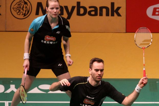 Joachim Fischer Nielsen and Christinna Pedersen in a file photo. They beat India's Tarun Kona-Ashwini Ponnappa 21-13, 21-16 in the first round of the All-England.