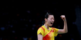 Li XueRui was struggling to make it to the quarterfinals of the Singapore Open on Thursday, but she was able to find her rhythm when playing against Taiwan's Tai Tzu-ying